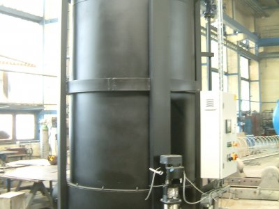 Installation of a steam generator and its equipment