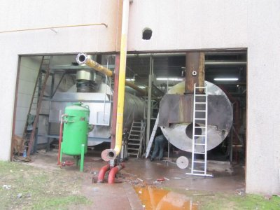 Relocation of a steam boiler room