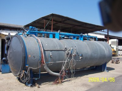 Manufacturing and installation of a steam storage tank