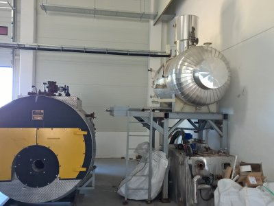 Installation and technological assembly of a steam boiler