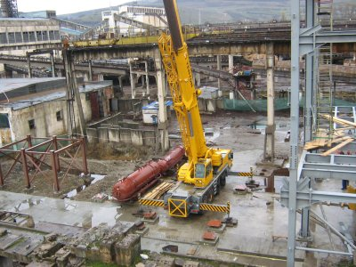 Construction of a new boiler room at a power station